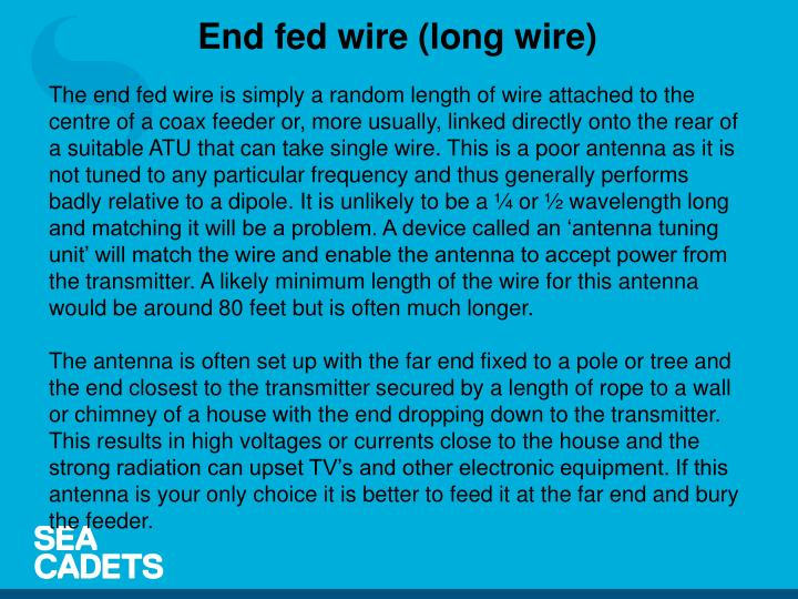 End fed wire (long wire)