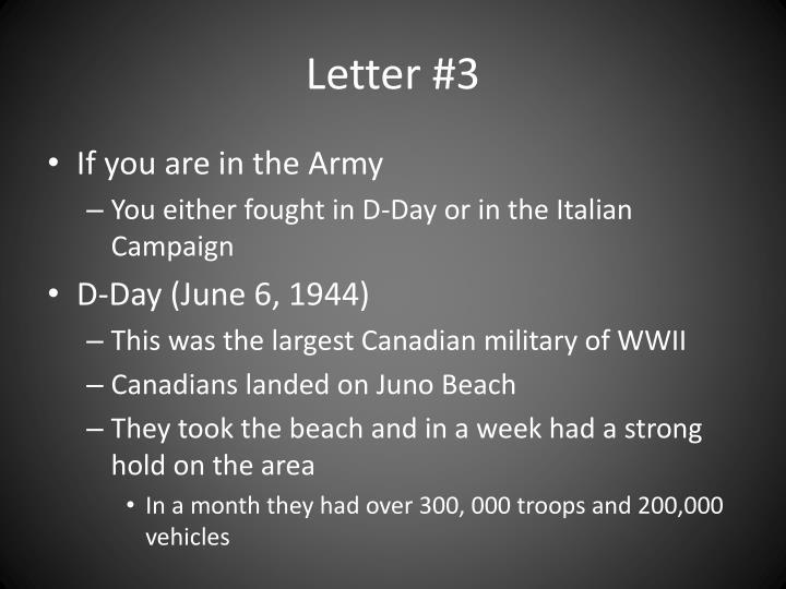 Letter #3