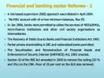 financial and banking sector reforms 2