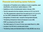 financial and banking sector reforms