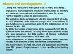 history and developments 2