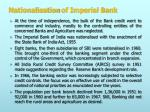 nationalisation of imperial bank