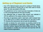 setting up of regional rural banks
