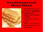 traditions and holy days1
