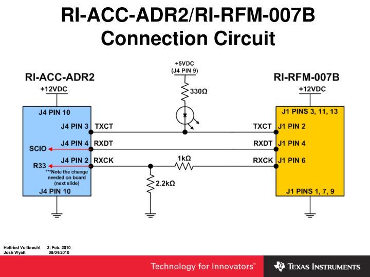 RI-ACC-ADR2/RI-RFM-007B Connection Circuit