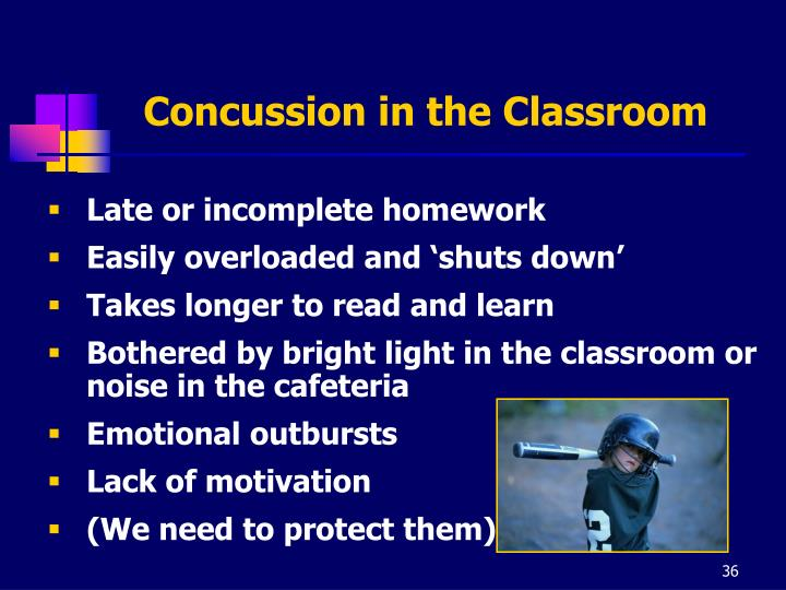 Concussion in the Classroom