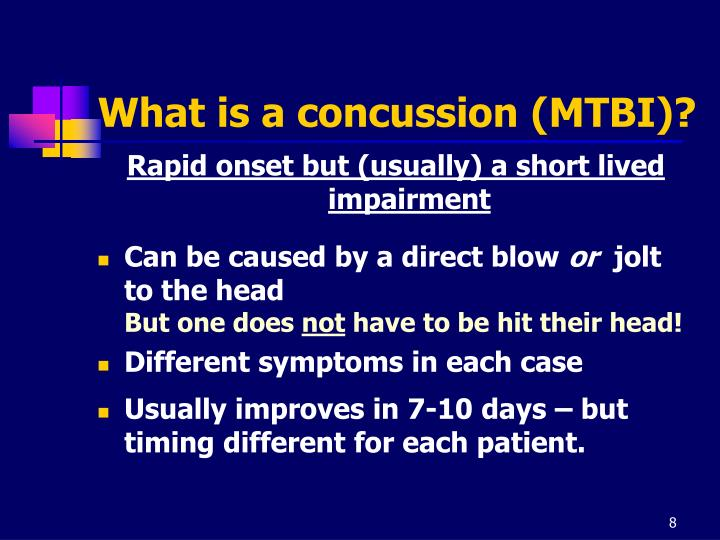 What is a concussion (MTBI)?