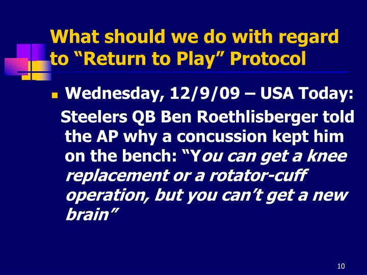 """What should we do with regard to """"Return to Play"""" Protocol"""