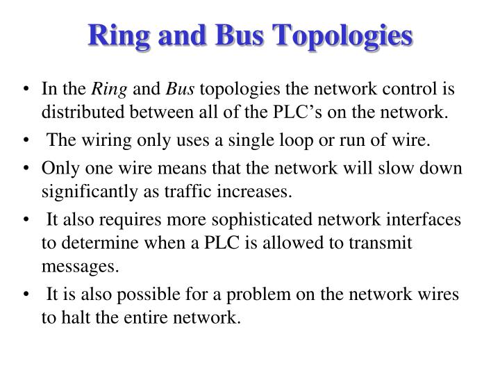 Ring and Bus Topologies