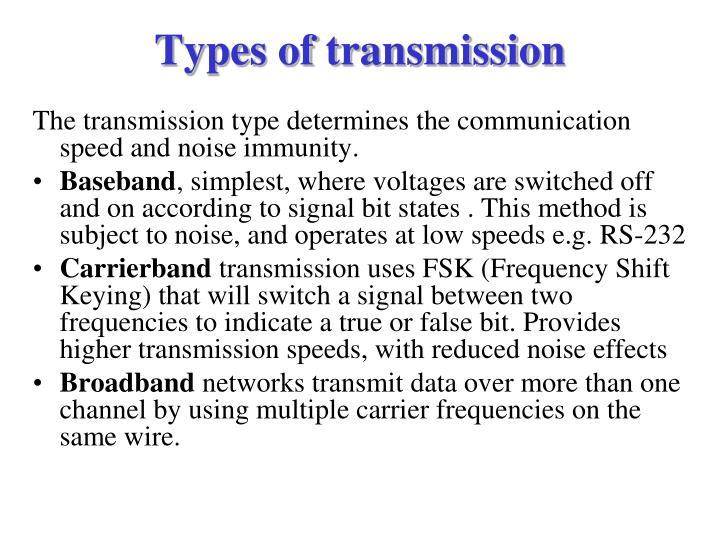 Types of transmission