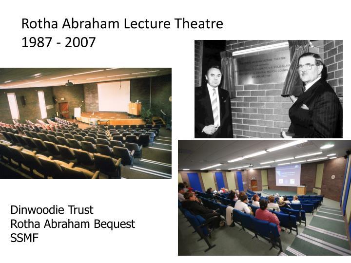 Rotha Abraham Lecture Theatre