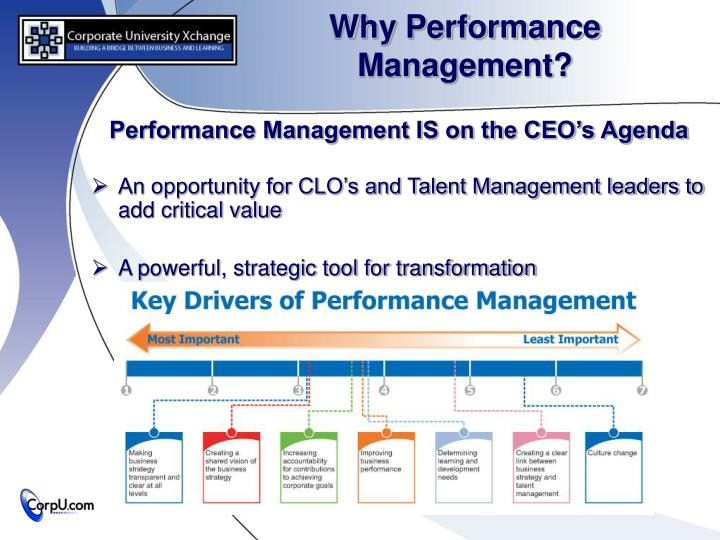 why is performance management necessary in Why measure process performancebecause, if you don't, all your process analysis and management efforts are a waste of time you don't have control over the things that really matter, and organizational decision-making can only be suboptimal.