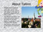 about tallinn