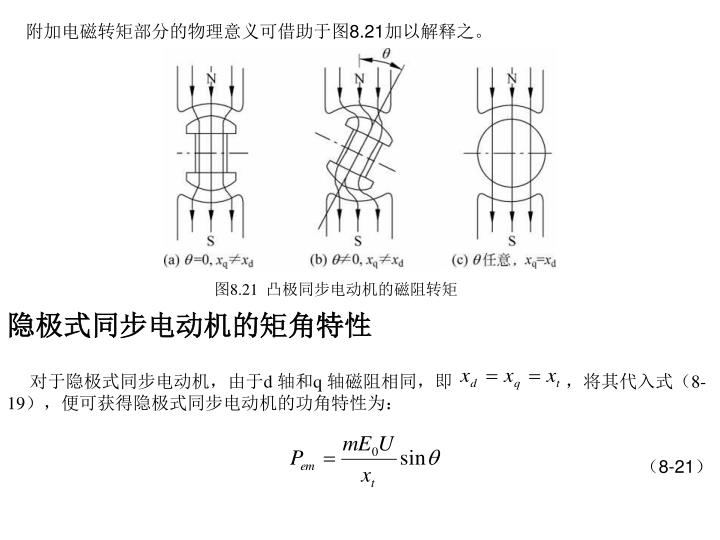 附加电磁转矩部分的物理意义可借助于图