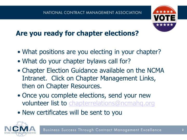 Are you ready for chapter elections