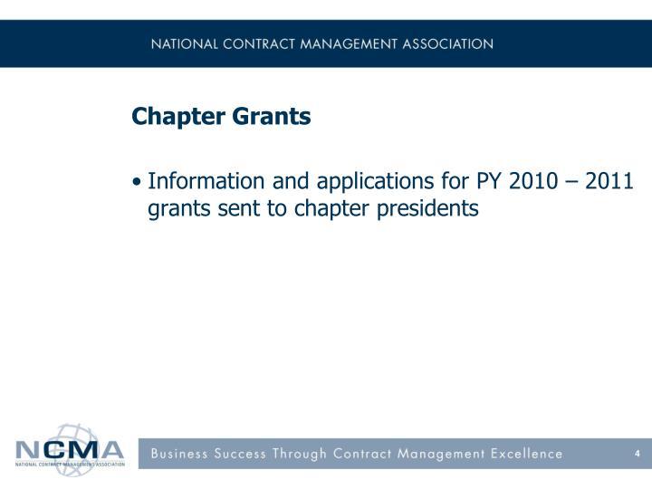 Chapter Grants