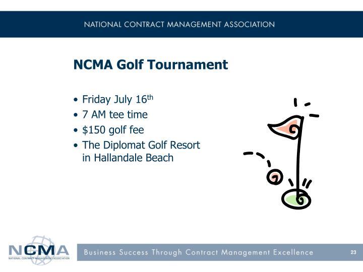 NCMA Golf Tournament