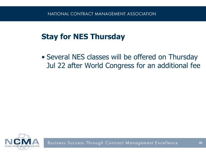 Stay for NES Thursday