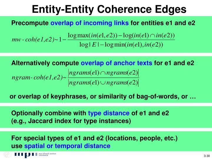 Entity-Entity Coherence Edges