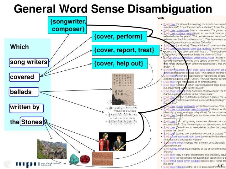 General Word Sense Disambiguation