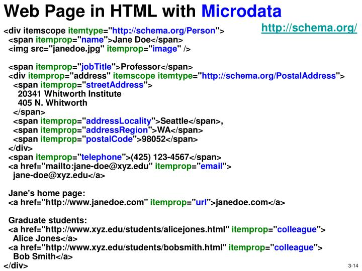 Web Page in HTML with