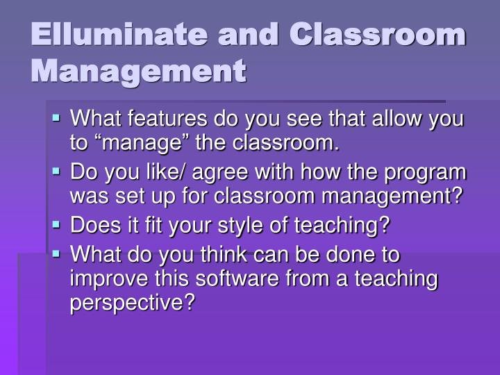 Elluminate and Classroom Management