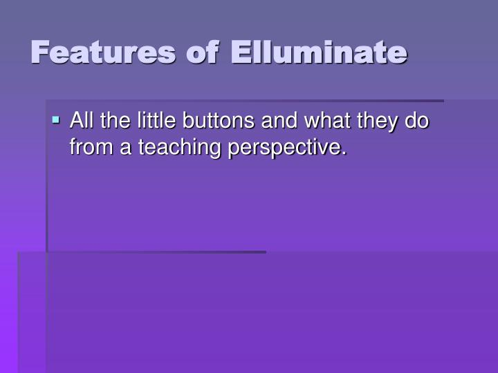 Features of Elluminate