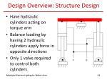 design overview structure design
