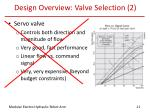 design overview valve selection 2