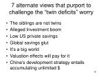 7 alternate views that purport to challenge the twin deficits worry