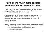 further the much more serious deterioration will start after 2009