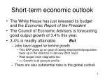short term economic outlook