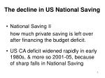 the decline in us national saving