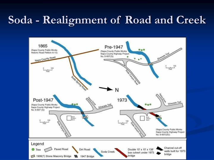 Soda - Realignment of Road and Creek