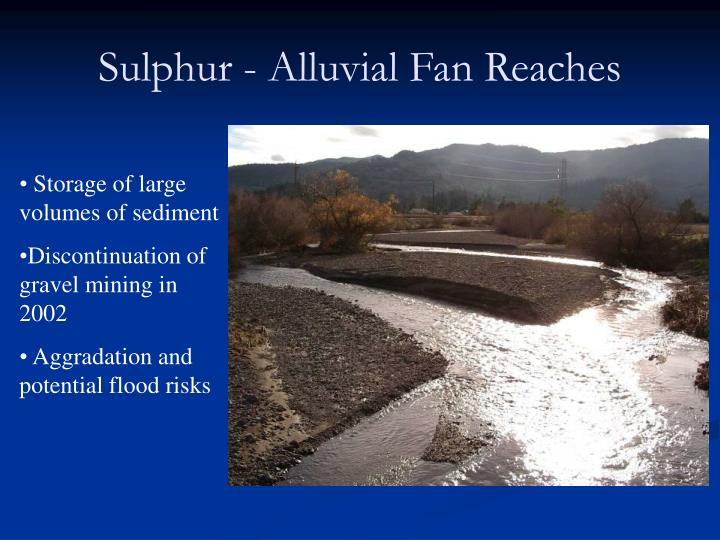 Sulphur - Alluvial Fan Reaches