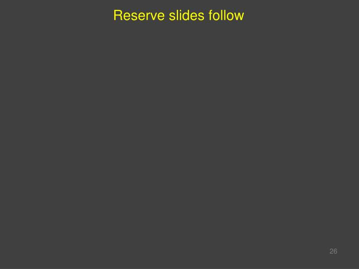 Reserve slides follow