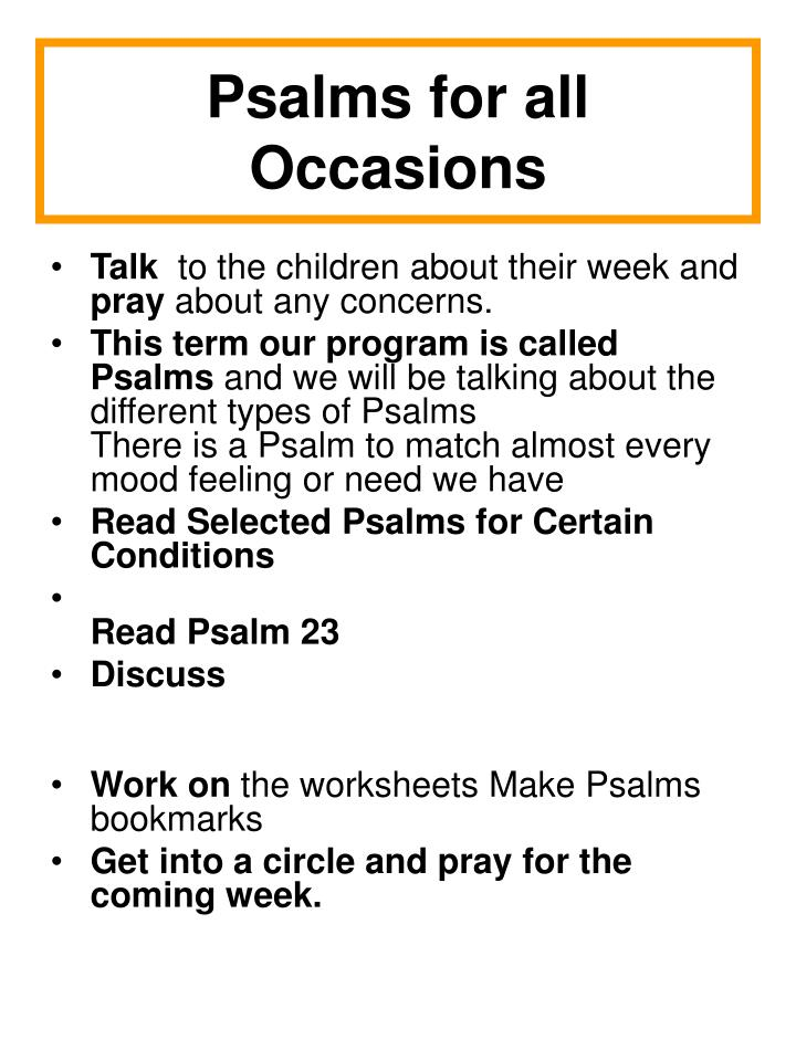 Psalms for all Occasions