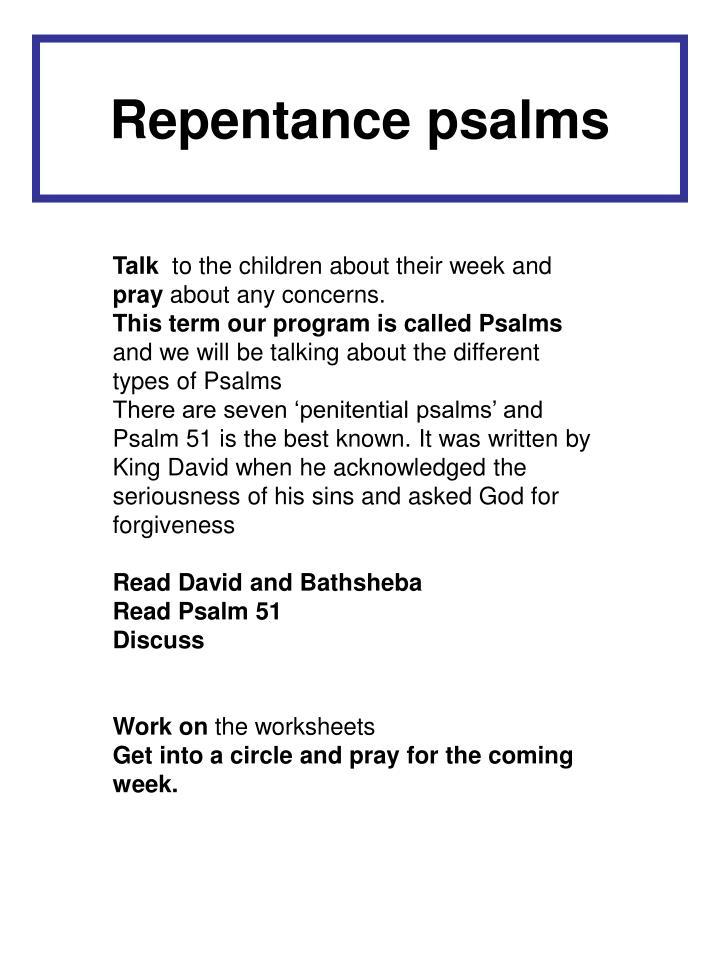 Repentance psalms