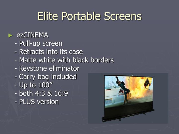 Elite Portable Screens
