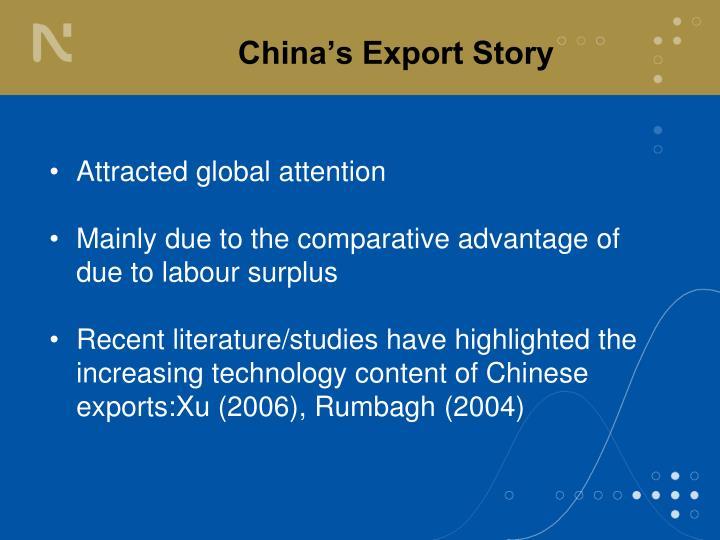 China s export story