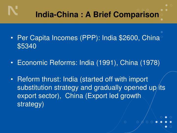 India china a brief comparison