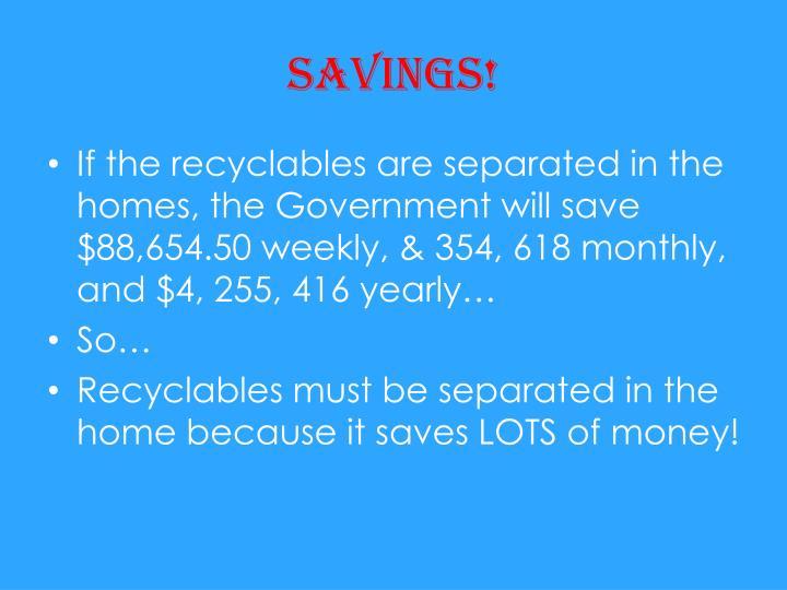 Savings!