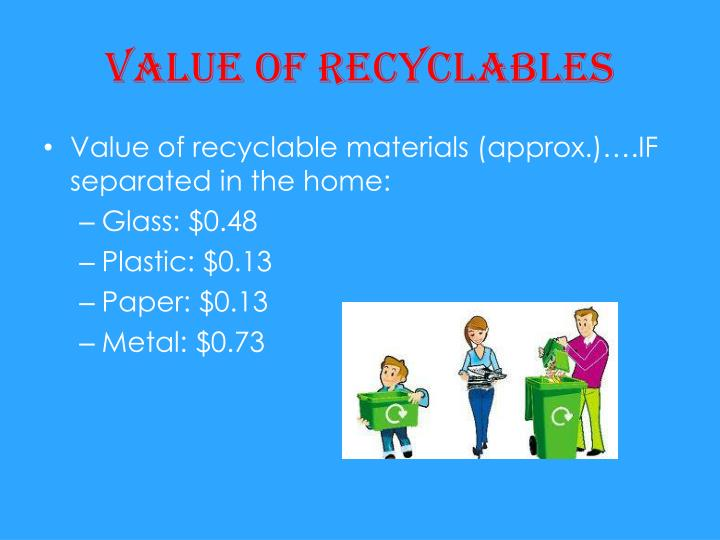 Value of recyclables