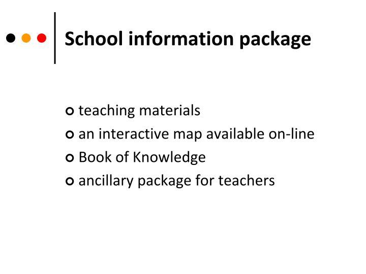School information package