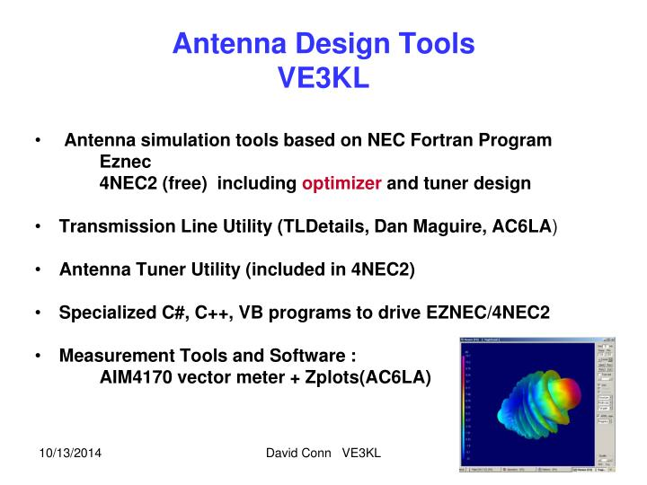 Ppt Antenna Design Tools Ve3kl Powerpoint Presentation Free Download Id 5479828