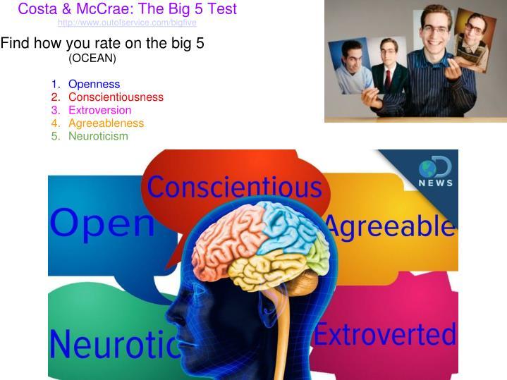 Costa & McCrae: The Big