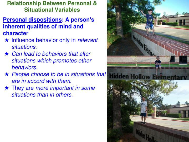 Relationship Between Personal
