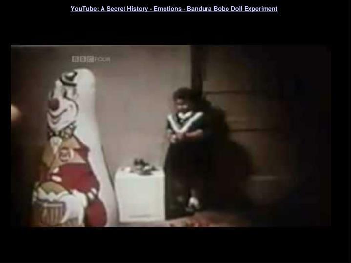 YouTube: A Secret History - Emotions - Bandura Bobo Doll Experiment