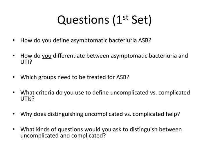 Questions (1