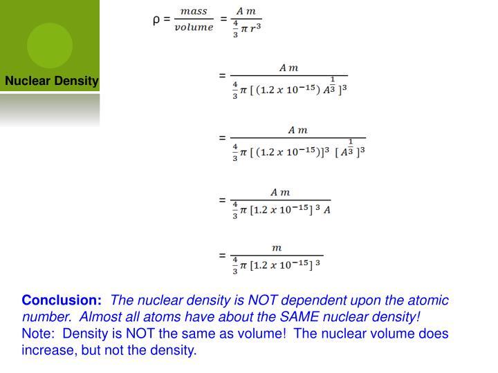 Nuclear Density